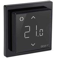 Čierny termostat s digitálnym ukazovaním teploty